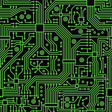 Circuit board seamless pattern, for your design