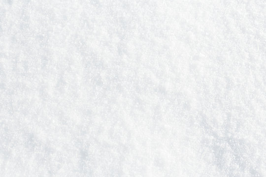 Natural snow texture background, closeup top view