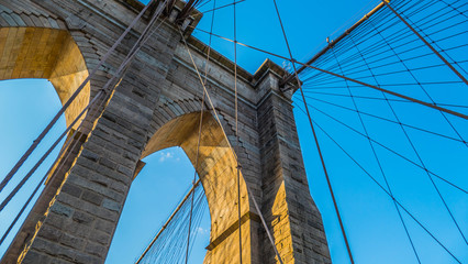 Foto auf AluDibond Brooklyn Bridge The Brooklyn Bridge from different perspectives.