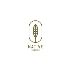 Native Logo Icon Design Template. Simple and Modern Vector