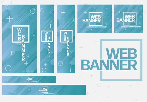 Teal Web Banner Layout Set