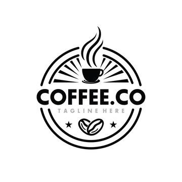 Coffee, Coffe Shop, Cafe Logo Design Inspiration Vector