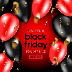 Black Friday Sale banner. Huge Discount banner.