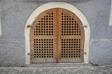 Old Austrian wooden door