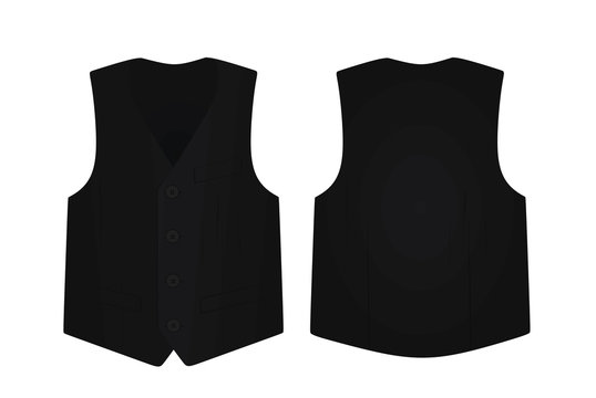 Black suit vest. vector illustration