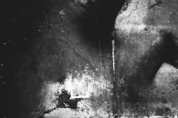 Image of old scratched surface in black and white colors