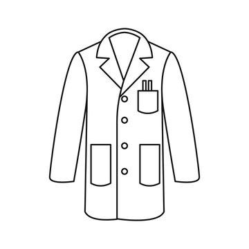 Line icon lab coat vector