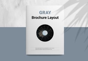 Gray Brochure Layout