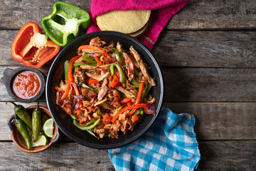 Mexican beef fajitas also called