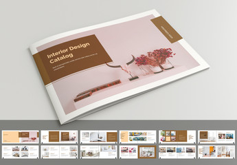 Catalog Layout with Brown Accents