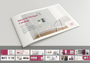 Brochure Layout with Dark Pink Accents