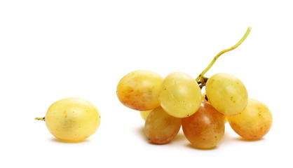 White grapes isolated on white background Fototapete