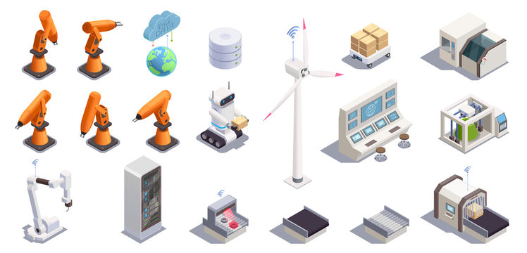Smart Industry Icons Set