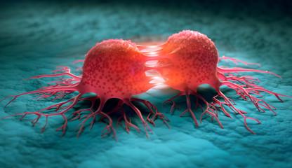 Dividing cancer cells - 3D illustration