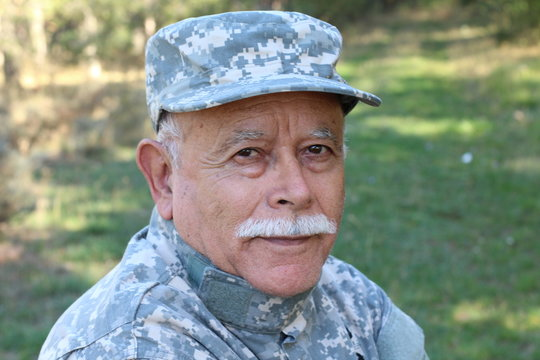 Veteran soldier looking at camera