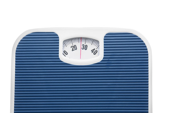 Modern scales on white background