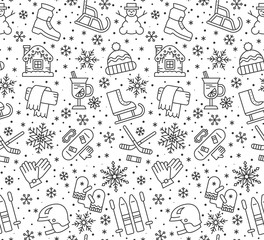 Winter New year holiday seamless pattern vector