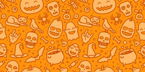Halloween party seamless background. Decorative pattern vector illustration