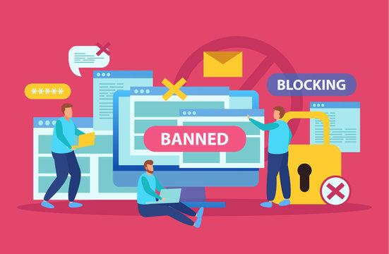 Internet Blocking Isometric Composition
