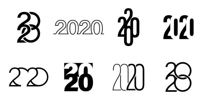Graphisme calendrier et vœux 2020