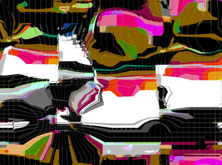 Abstract multicolored picture. Digital art