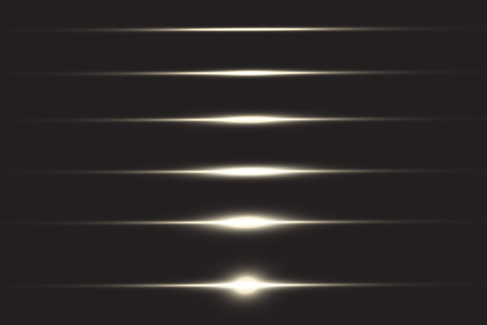 Abstract lines with glow light effect. Glow special light effect. Glowing lines on transparent background. Lines vector.