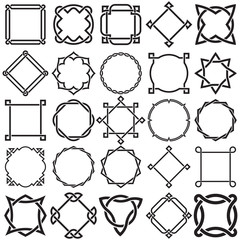 Collection of Knotwork Decorative Ornamental Border Frames. Ideal for label designs.