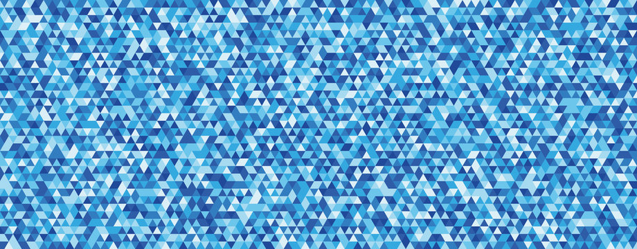 Abstract background with unity of blue triangle shape. Eps10 Vector background.