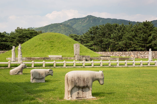 Royal Tomb of King Suro is a grave of the Gaya era in Gimhae-si, Korea.