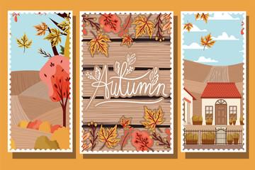 Autumn Season Design ,vector illustration