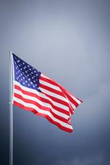 Die Amerikanische Fahne am Fahnenmast