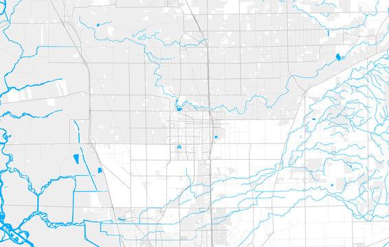 Rich detailed vector map of Lodi, California, USA