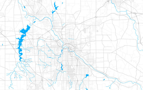Rich detailed vector map of Youngstown, Ohio, USA