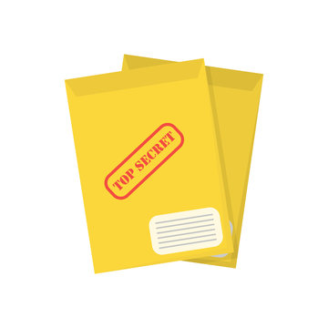 top secret document in flat style, vector