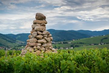 La Tour Bourdon, tower of blocks of sandstone, Beaujolais, France