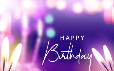 Happy Birthday Celebration, Greeting and Invitation Card Template. Vector illustration