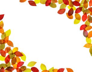 秋 紅葉背景素材(水彩色鉛筆)
