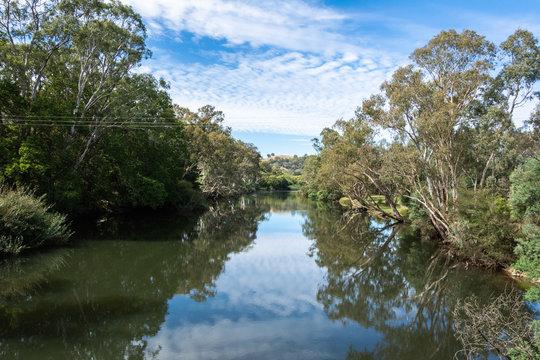 View over Goulburn River near Alexandra, Victoria, Australia.