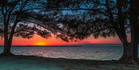 Sunset on the island of Sanibel.Florida.USA