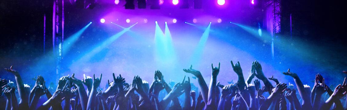 Feiernde Menschen auf einem Konzert