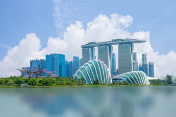 Photo sur Toile Singapoure skyline of singapore at the marina bay