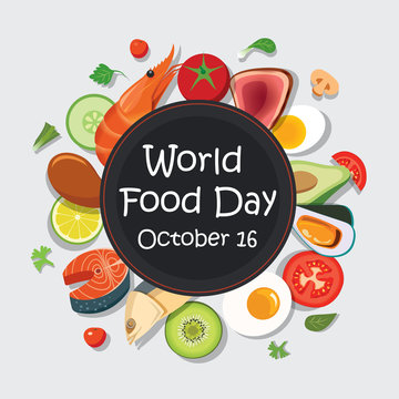 World food day poster template and background.