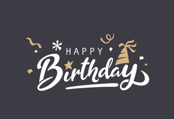 Happy Birthday typography vector design for greeting cards and poster