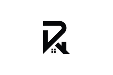 Letter R P PR RP in vector for Real Estate , Property and Construction Logo design for business corporate sign. Minimal logo design template on white background.
