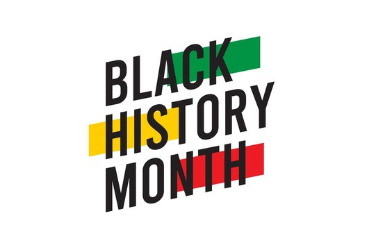 black history month celebrations modern design template.
