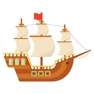 Piligrim ship. Mayflower. Thanksgiving day.