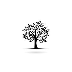 Tree icon isolated on white background