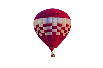 Poster Ballon Colorful hot air balloon floating isolated on white background, with Clipping Path