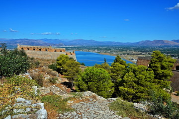 Greece,Nafplio-view on the fortress Palamidi