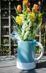 Blue Jug of Flowers